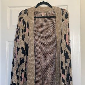 Mossimo leopard sweater
